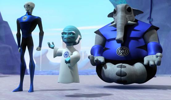 Корпус Синих Фонарей в мультсериале Зелёный Фонарь
