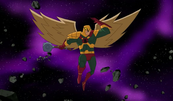 Человек ястреб в мультсериале Лига Справедливости
