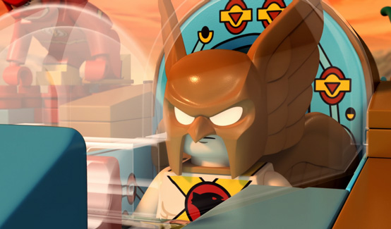 Человек ястреб появляется в LEGO супергерои DC: Лига справедливости против Лиги Бизарро