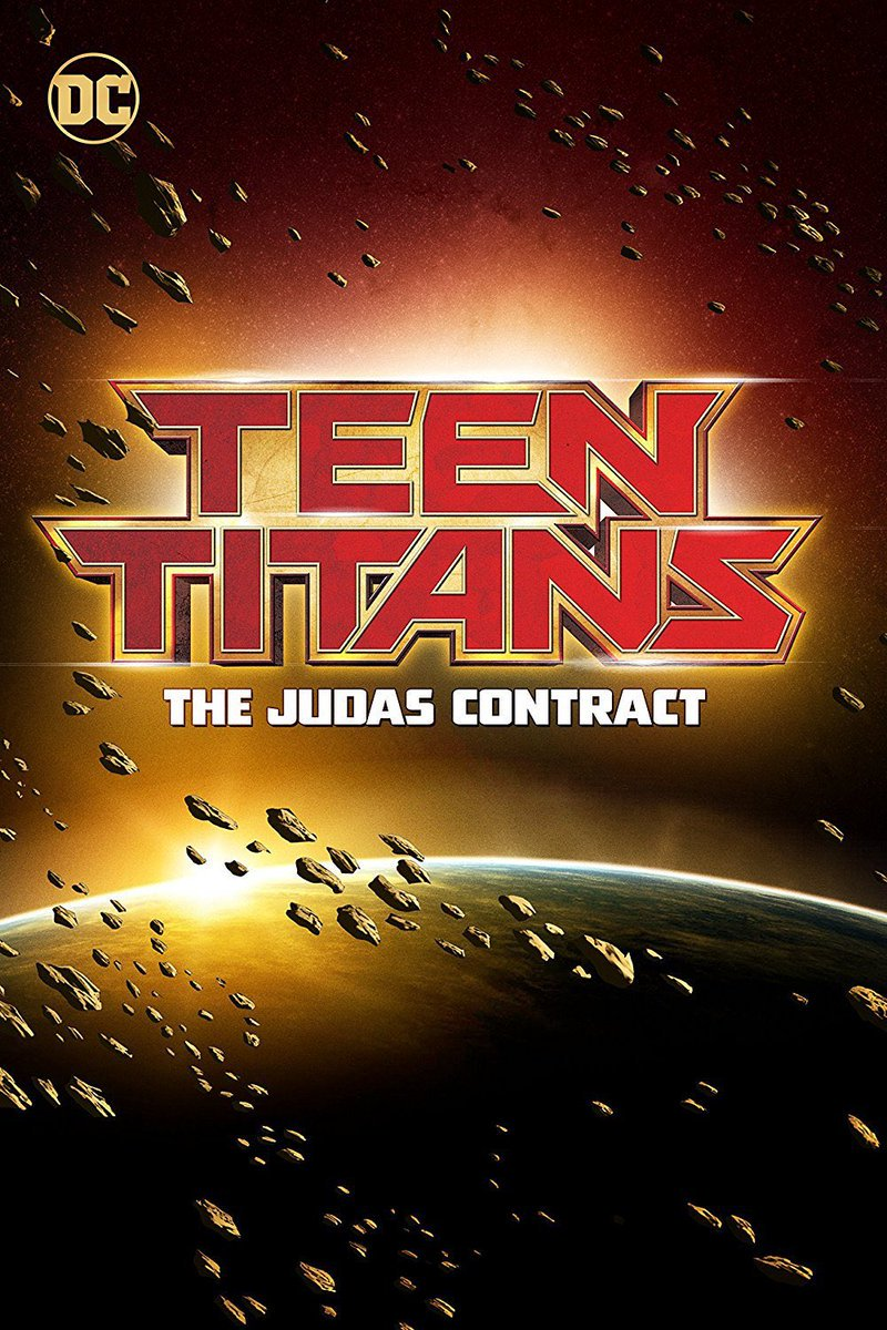 Тизер-постер анимационного фильма Юные Титаны: Контракт Иуд