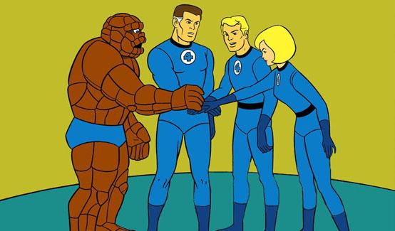 Фантастическая Четвёрка в мультсериале Фантастическая Четвёрка (1967 год)