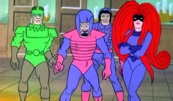 Ужасающая Четвёрка в мультсериале Фантастическая Четвёрка (1978 год)