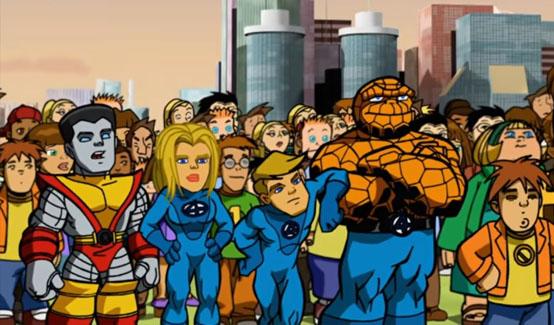 Фантастическая Четвёрка в мультсериале Отряд Супергероев