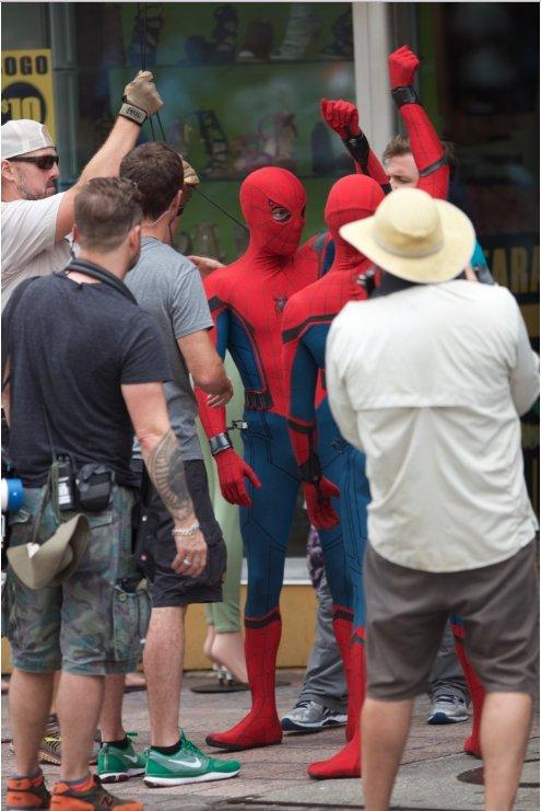 Новые фото со съемок человек паук возвращение